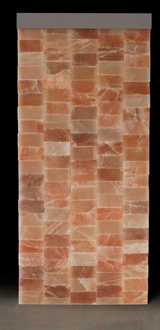 Backlighted Salt Wall Made With Himalayan Salt Bricks And Automatic And Manual Led Chromotherapy Carmenta Wellness H Salt Room Salt Cave Himalayan Salt Room