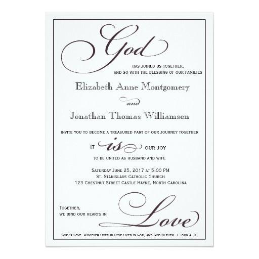God Is Love Christian Script Wedding Invitation Zazzle Com Christian Wedding Invitations Script Wedding Invitations Christian Wedding Invitation Wording