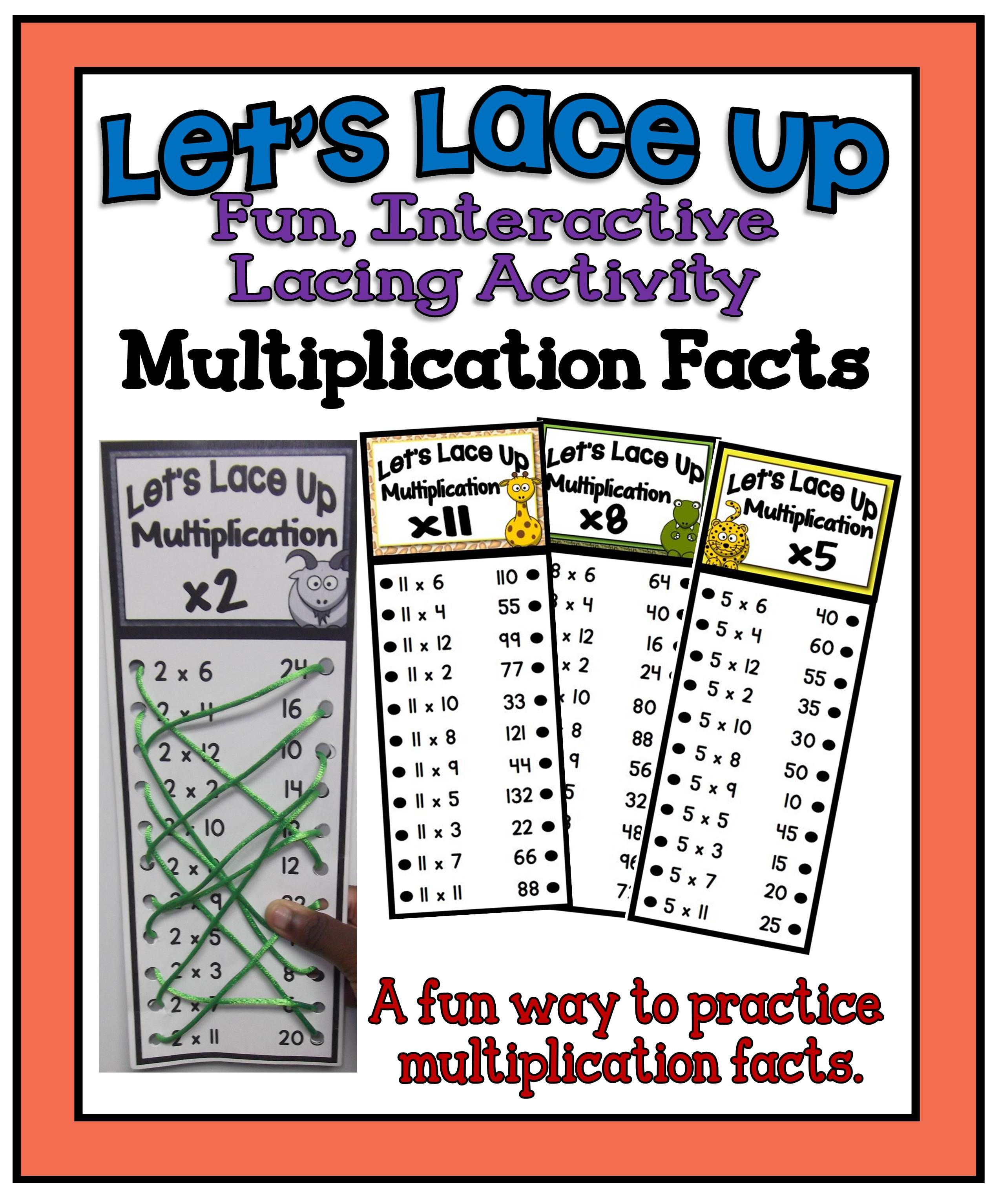 Let S Lace Up Multiplication Facts