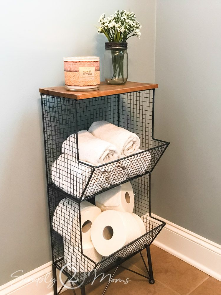 The Secret to Finding Affordable & Pretty Small Bathroom Storage