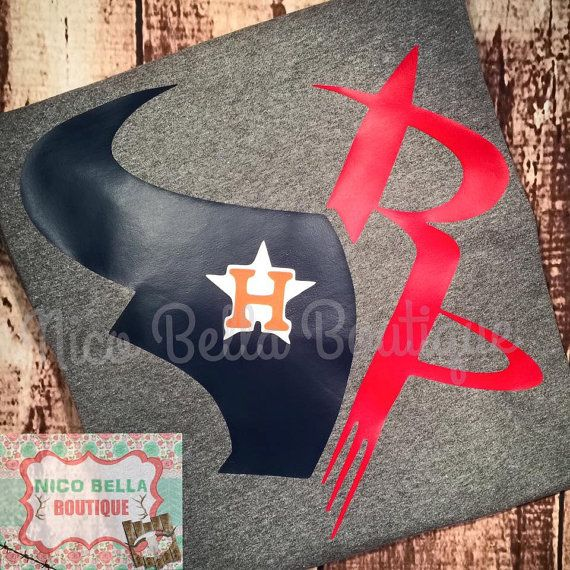 huge selection of 0fed5 564f6 Houston Texans Rockets Astros Logo Shirt by ...