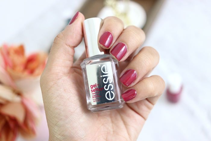Review Essie Gel Setter Top Coat Slashed Beauty A Budget