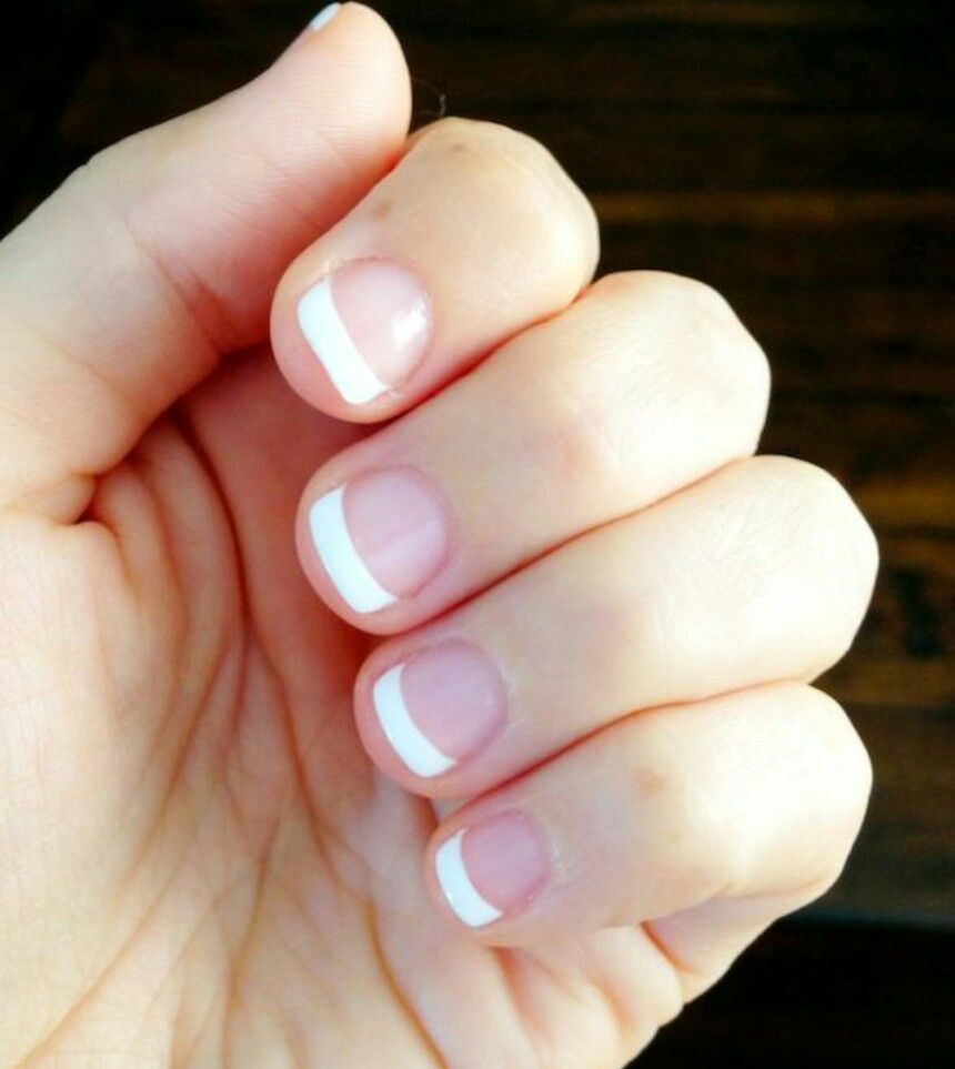 Love Short Nails With A French Manicure Makeup Nails Skin Care