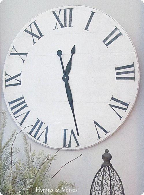 Oversized Wall Clock from Old Tabletop Knock Off Decor Clocks
