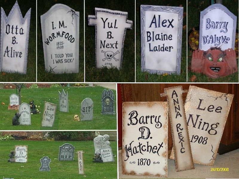 Homemade Halloween Gravestones