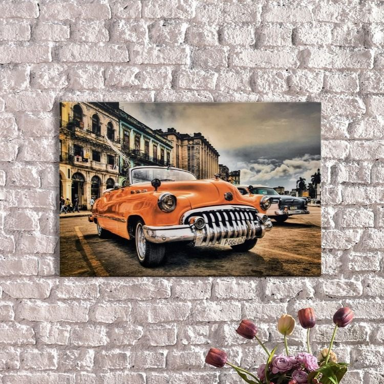 Light Up Canvas Havana Cuba Car Large Canvas Canvas Art Wall Etsy Light Up Canvas Canvas Prints Canvas Print Wall