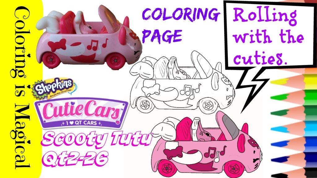 Shopkins Coloring Page: Scooty Tutu Cutie Car in 2020 ...