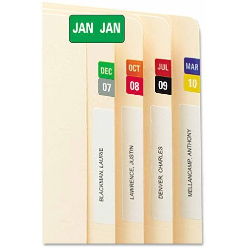 smead label templates - monthly end tab file folder labels assorted colors 250