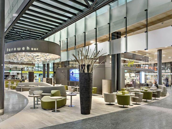 Fernweh bar by detail design gmbh zurich airport for Interior design gmbh