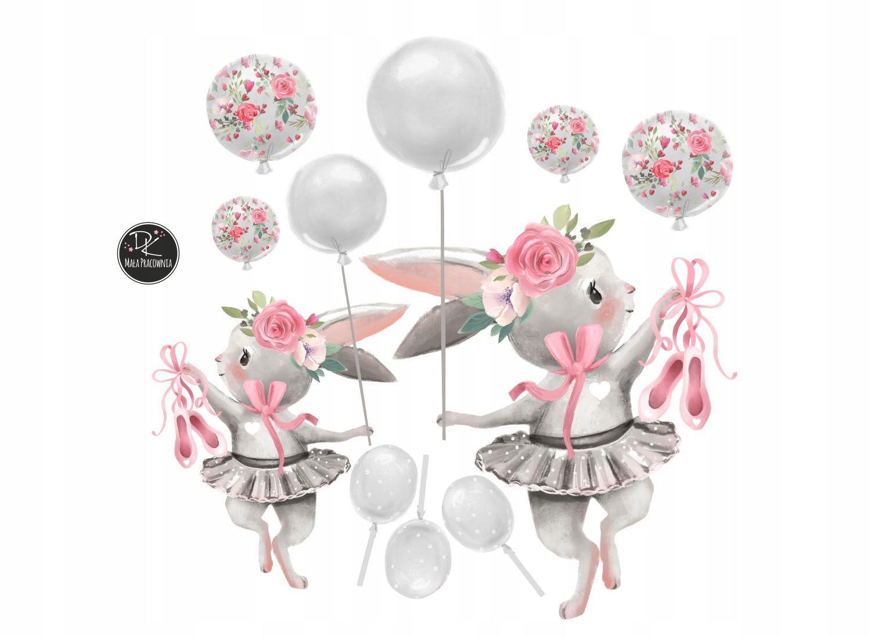 Naklejka Na Sciane Kroliczki Baloniki Baletki Xl Chalecos De Piel Bailarinas Piel