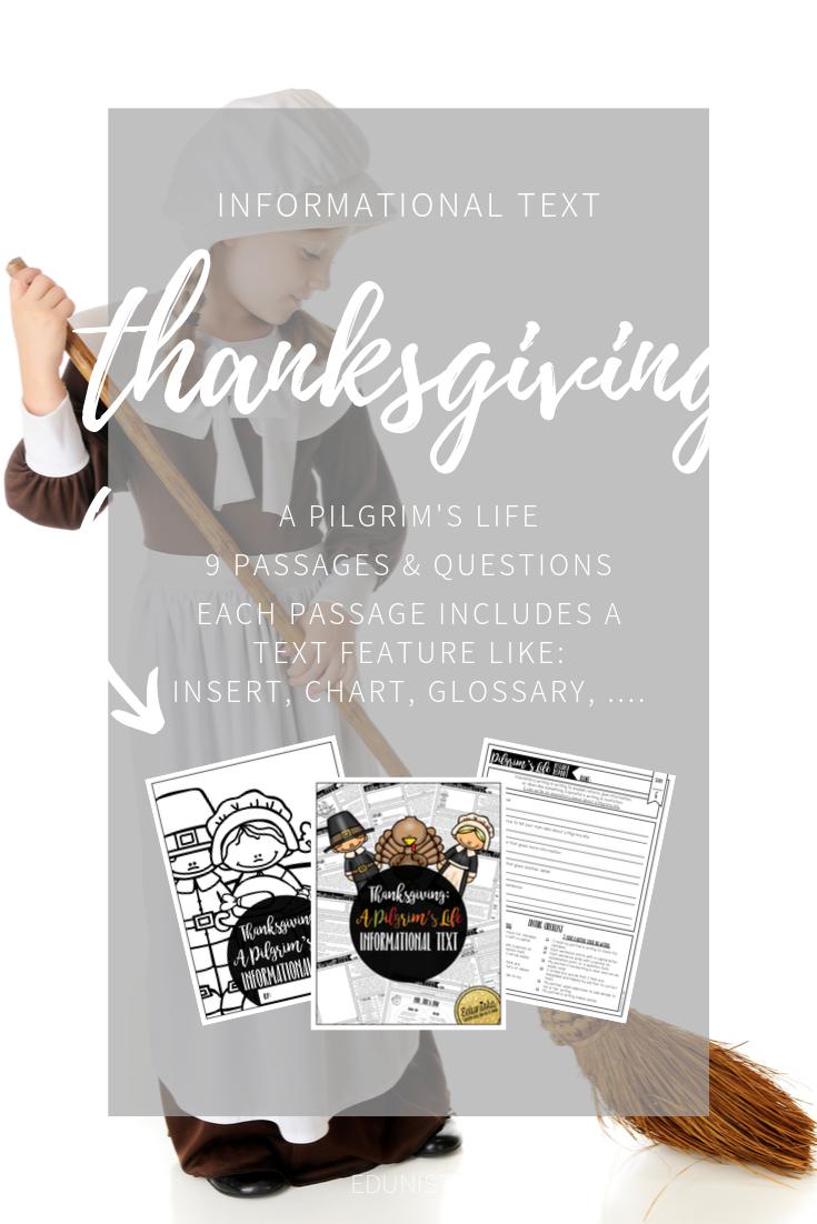 Informational Text Thanksgiving Pilgrim Reading Comprehension Passages Informational Text Reading Comprehension Passages Reading Comprehension [ 1102 x 735 Pixel ]