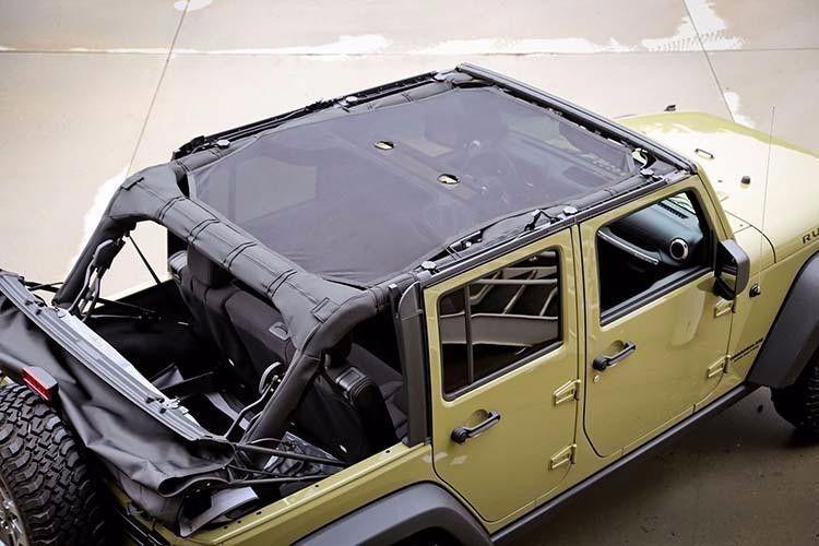 Eclipse Sun Shade Full Bikini Soft Top Mesh Cover For 2007-2018 Jeep Wrangler JK