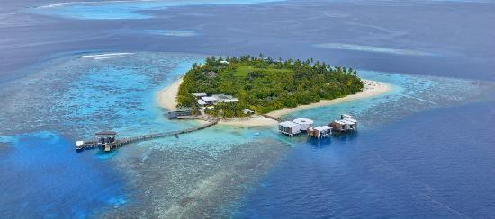 Jumeirah Dhevanafushi: Resort Aerial View