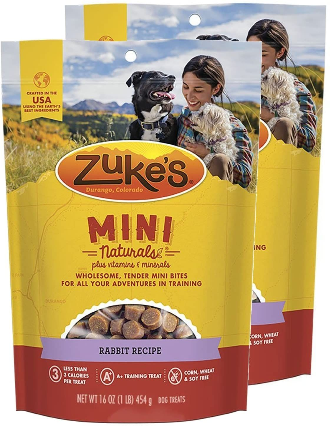 Zuke S Mini Naturals Dog Treats Rabbit Recipe 16 Oz 2 Pack Natural Dog Treats Dog Treats Rabbit Food