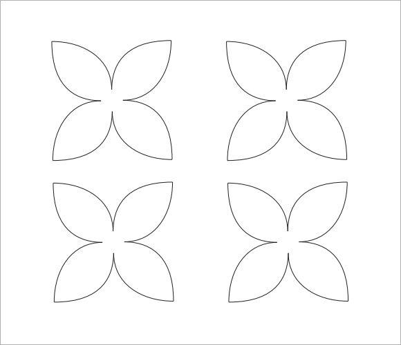 8 petal flower template u2013 acfm stencils Pinterest Flower - flower petal template
