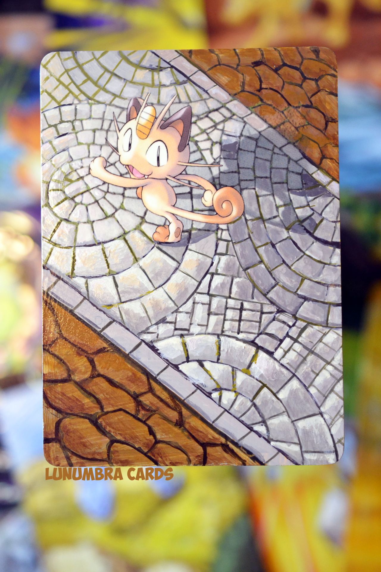 "awesomepaintedcards: ""Have some card alters~Sorry for the lack of recent updates - Been without internet for awhile and other things but we will soon start posting regularly again (and maybe bring in... Pokémon - Pokemon - Meowth"