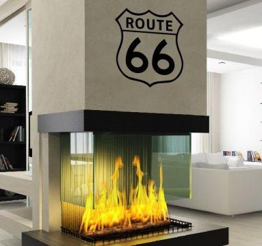 topdesignshop Wandtattoo Aufkleber und Gravuren Shop - USA Route 66 Wandtattoo Aufkleber