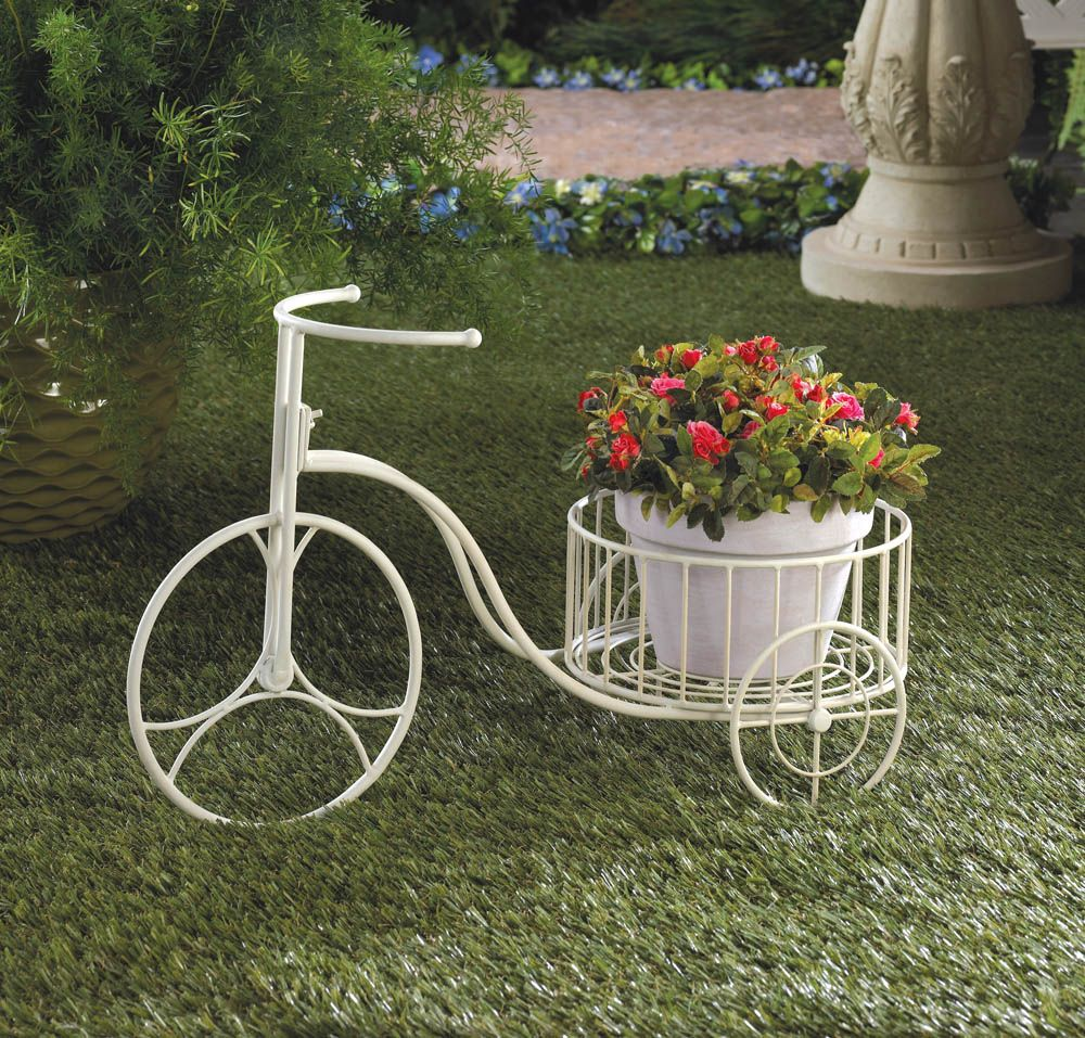 White Tricycle Planter Wholesale At Koehler Home Decor Tricycle Metal Plant Stand Plant Holders
