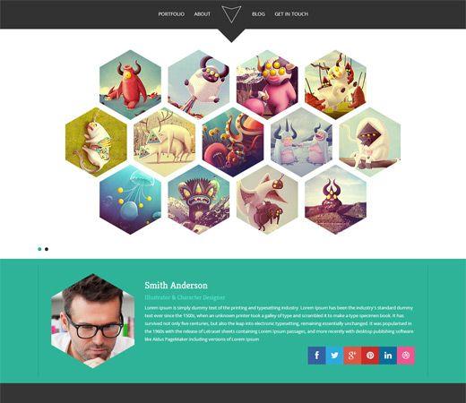 hexa a flat portfolio bootstrap responsive web template http