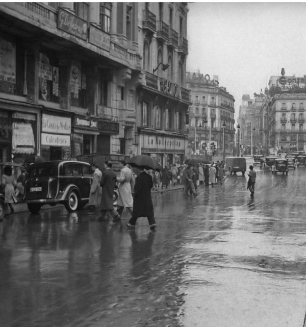 Calle mayor y puerta del sol madrid madrid in the past for Calle sol madrid