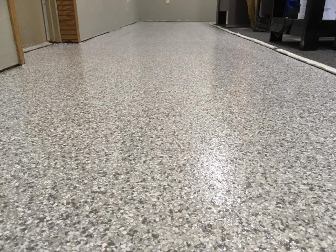 Decorative and Durable Epoxy Flake Office Floor in Findlay