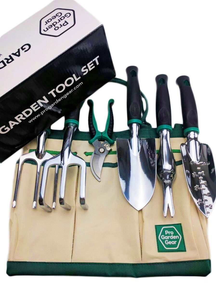#Recomeneded Pro Garden Gear Gardening Tool Set For The New Or Seasoned  Gardener. Ergonomic