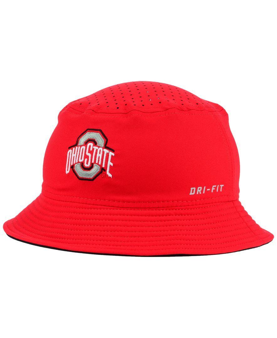 Nike Ohio State Buckeyes Vapor Bucket Hat  1e4d7ed24b8