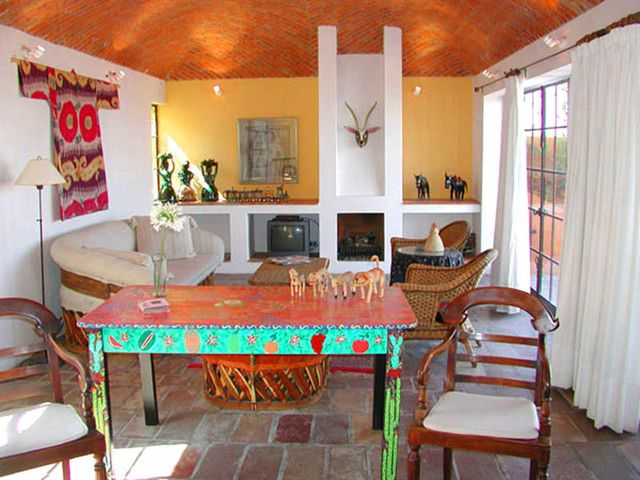 Mexican houses eclectic living room painted furniture for Mexican living room decor