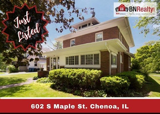 JUST LISTED TODAY!  Beautiful, updated all-brick, two story home in Chenoa, IL. Surely won't last long... To view the property in full, click here: https://www.bnrealty.com/homes/602-S-Maple/Chenoa/IL/61726/80441064/  We can't wait to show this well-maintained home with its historic character including original woodwork, large rooms, 9 Ft. ceilings throughout, and beautiful hardwood floors.  Stay tuned for our next OPEN HOUSE!  #bnrealty #kellerwilliamsbloomington #chenoail #chenoaillinois…