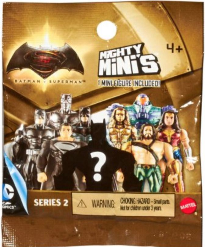Mighty Minis Justice League Movie Series 2 Blind Bag DC Mattel Lot of 3