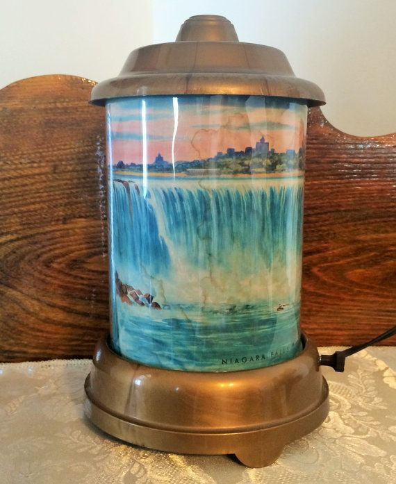 Econolite Motion Rotating Lamp Niagara Falls 1950 Vintage Econolite Motion Lamp Lamp Niagara Falls Vintage Vintage Lamp Poppies Ho Lamp Old Toys Vintage