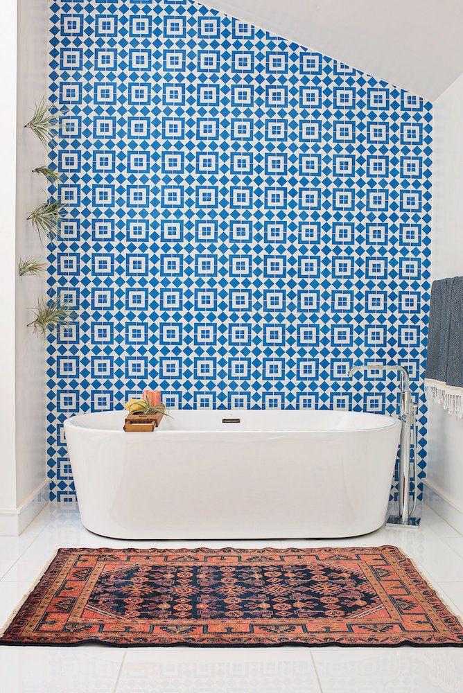 Marin Master Bathroom For the Home Pinterest Baños, Baño y Lambrin - tapices modernos