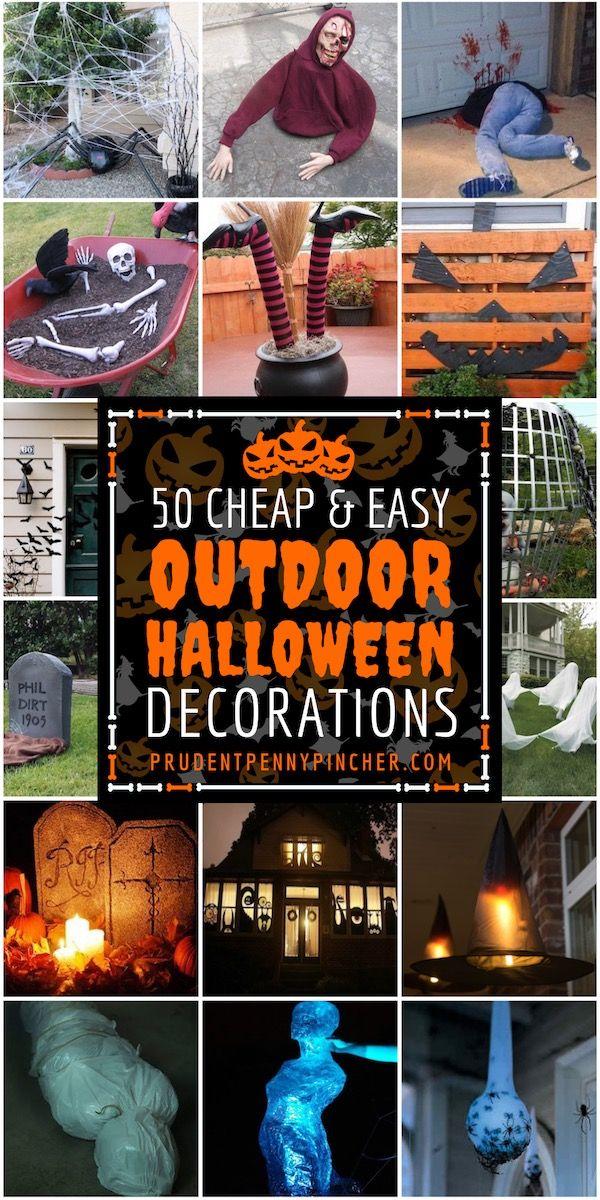 50 Cheap And Easy Outdoor Halloween Decor Diy Ideas Homemade