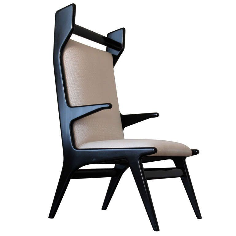 Wonderful Set of 8 Italian Chairs in the Style of Vito Latis, Circa 1950s | From a unique collection of antique and modern lounge chairs at http://www.1stdibs.com/furniture/seating/lounge-chairs/