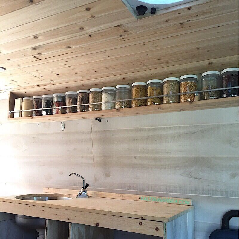 Photo of Add a beautiful touch of modern to your van conversion kitchen with a simple flo…