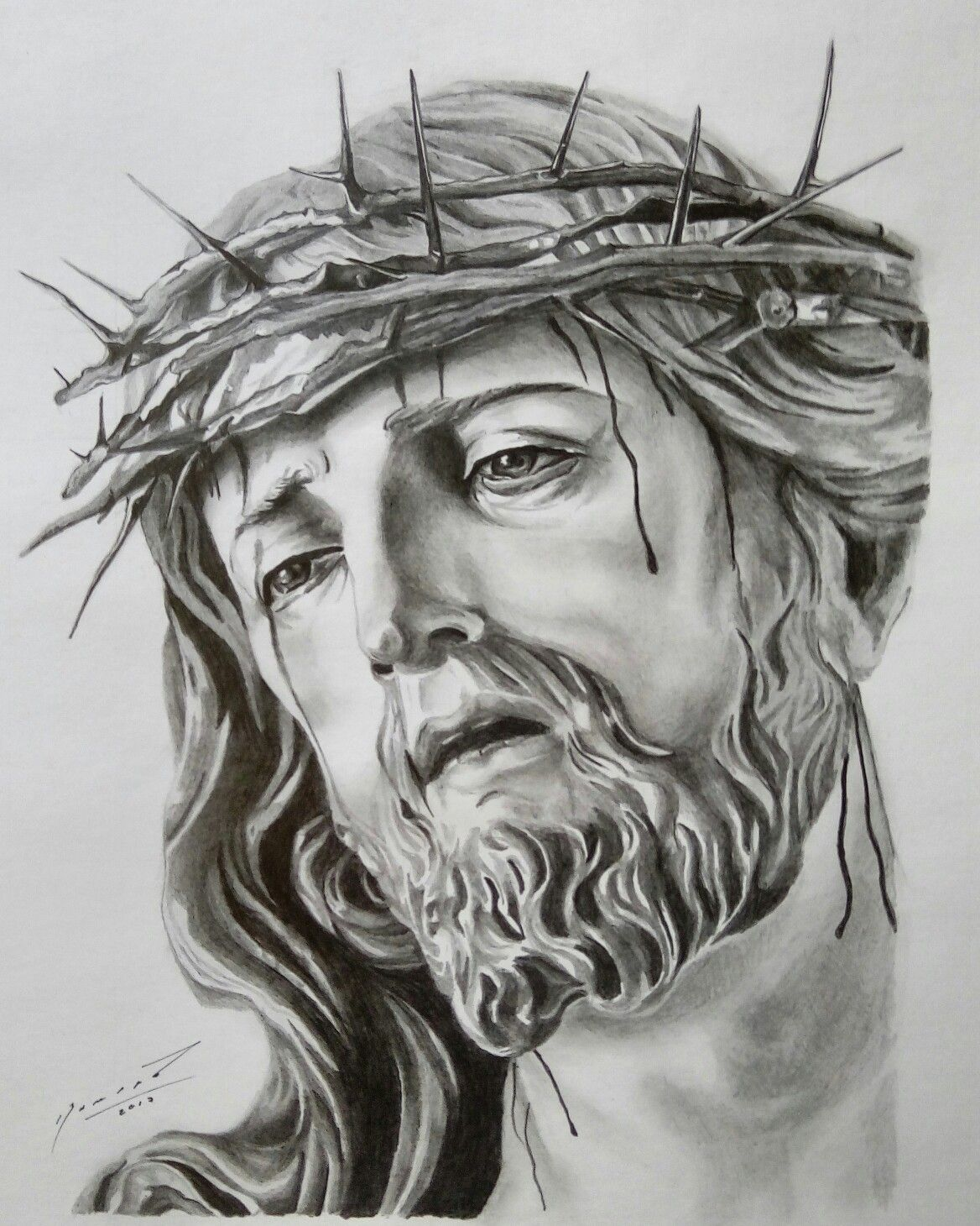 Divino Rostro De Jesús Drawings And Paintings By Me Pinterest