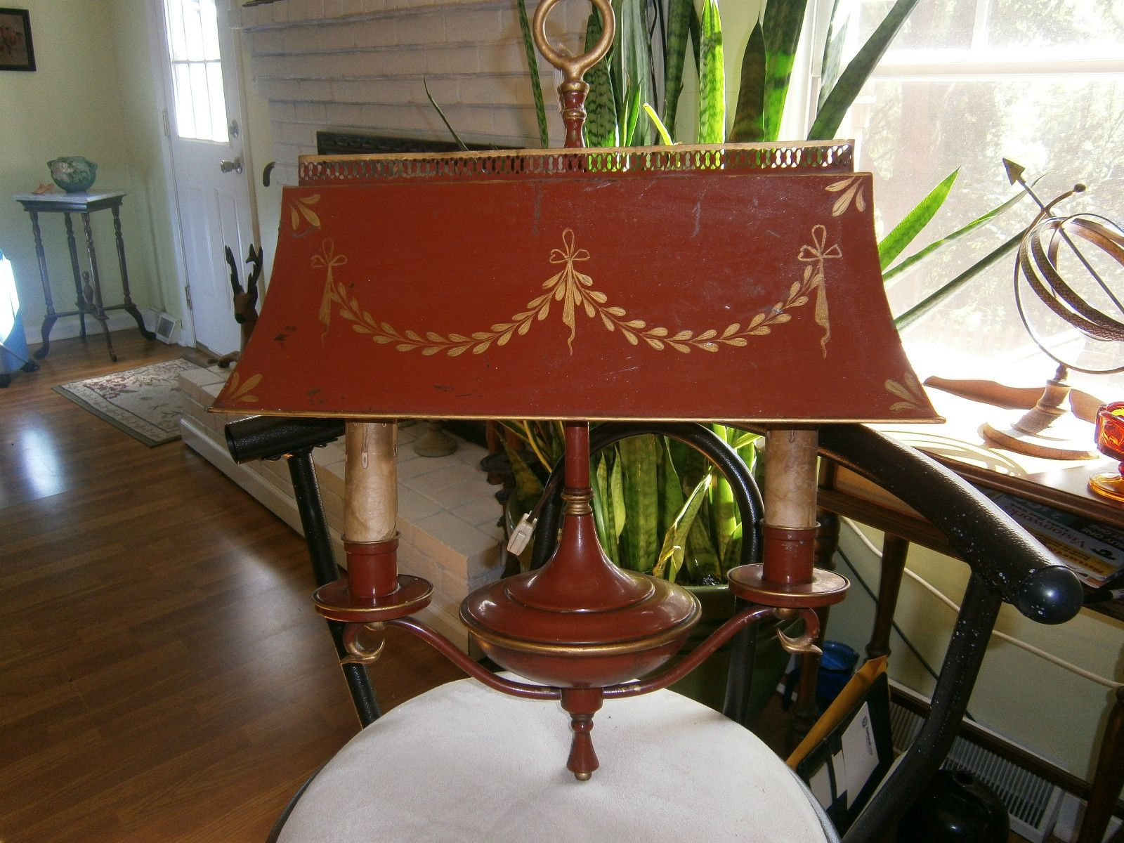 Antique French Empire Style Double Tole Metal Brass Bouillotte Desk Hanging  Lamp   eBay You couldAntique French Empire Style Double Tole Metal Brass Bouillotte  . Antique French Lamps On Ebay. Home Design Ideas