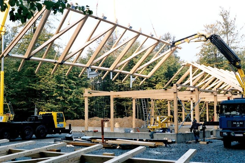 Best Placing 3 Dimensional Roof Truss Elements Forest Lodge 400 x 300