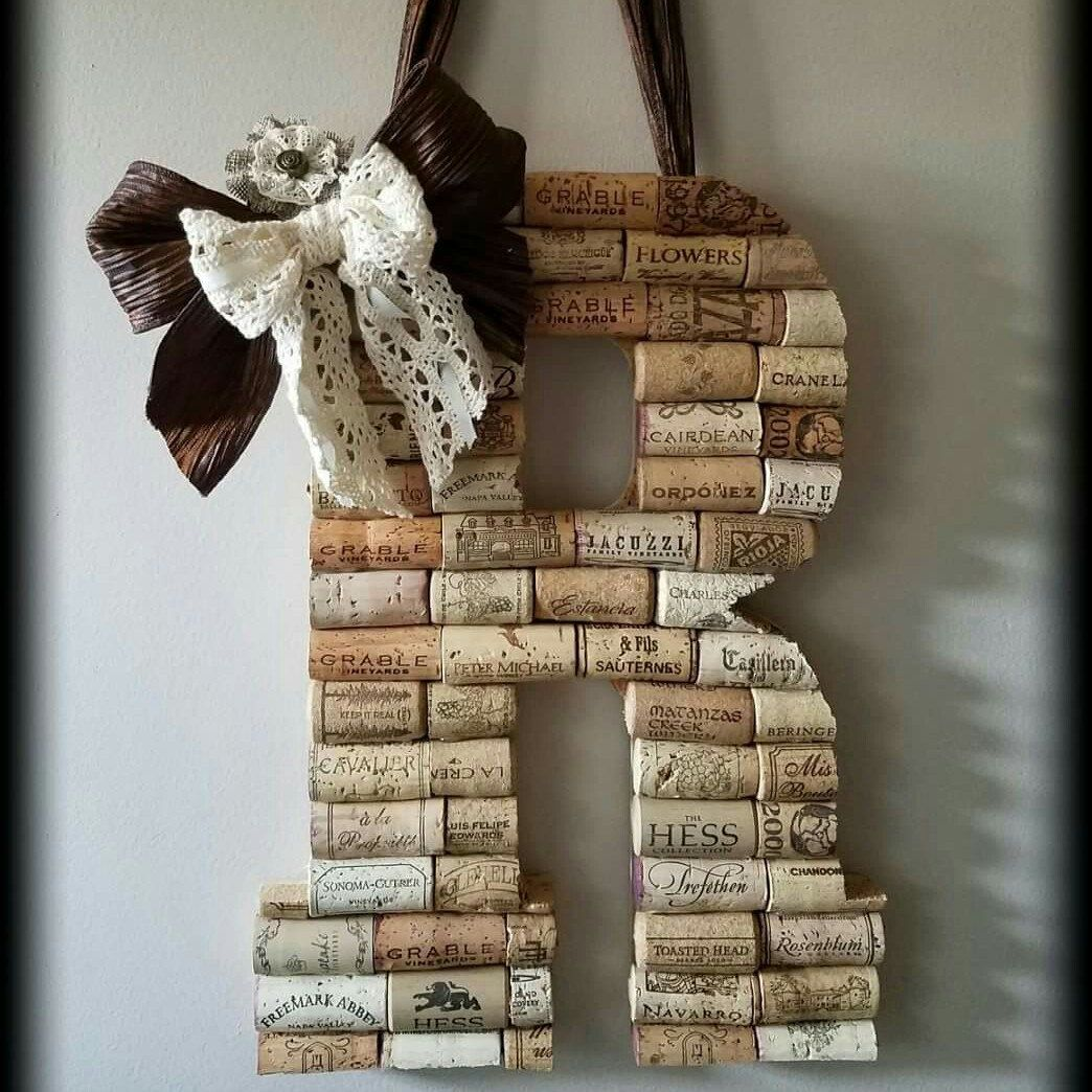 Mylovebuggifts shared a new photo on -   24 cork crafts initials