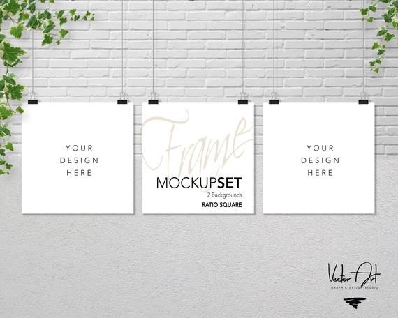 Set Of 3 Square Mockup Nursery Mockup Styled Photography Etsy Mockup Free Psd Psd Mockup Template Free Packaging Mockup