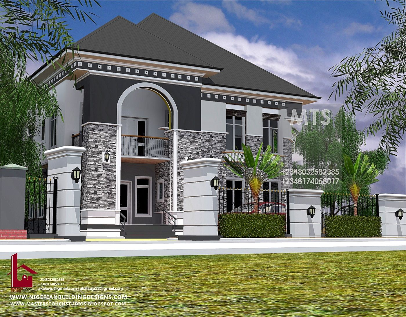 5 Bedroom Duplex Rf D5006 Beautiful House Plans Architectural House Plans Duplex Design