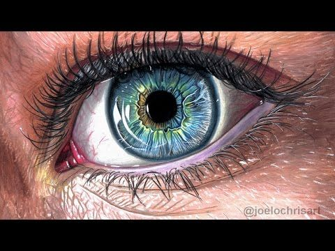 How To Draw a Realistic Eye with Colored Pencils - YouTube