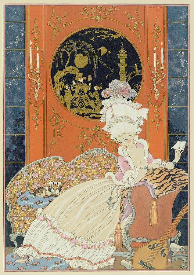 Illustration For fetes Galantes George Barbier