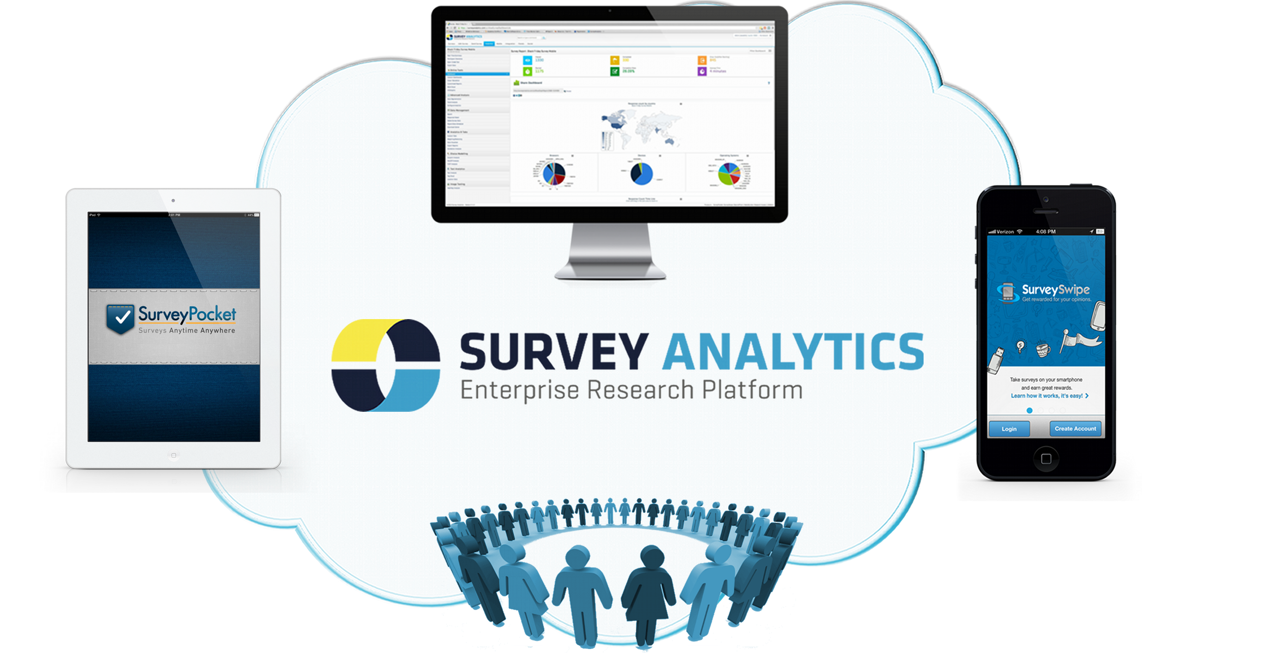 Survey Analytics offers an enterprise grade research platform that provides companies with feedback and listening system capabilities in over 30 industries. Beyond just surveys - our user friendly and powerful cloud enabled tools allow organizations to collect feedback and analyze various forms of data through online, mobile and custom panel or community channels.