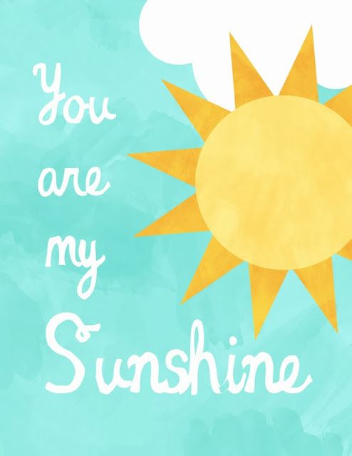 A Well-Feathered Nest: Nursery Print - You are my Sunshine
