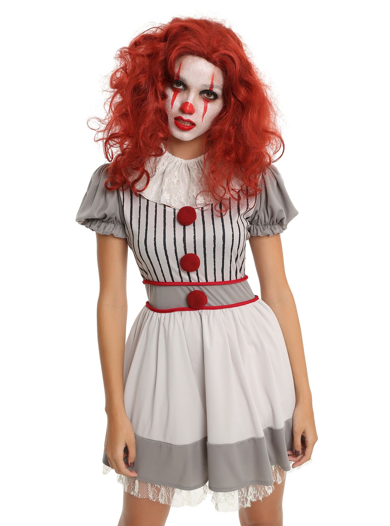 Scary Clown Costume Dress Scary clown costume, Clown