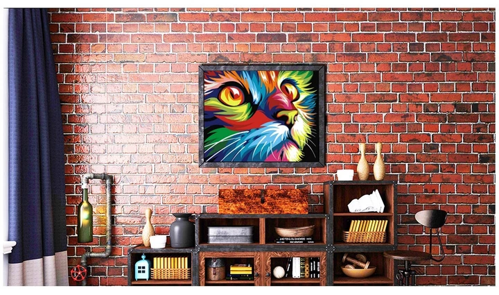 abstract cats diy painting By numbers Kit Tinkle