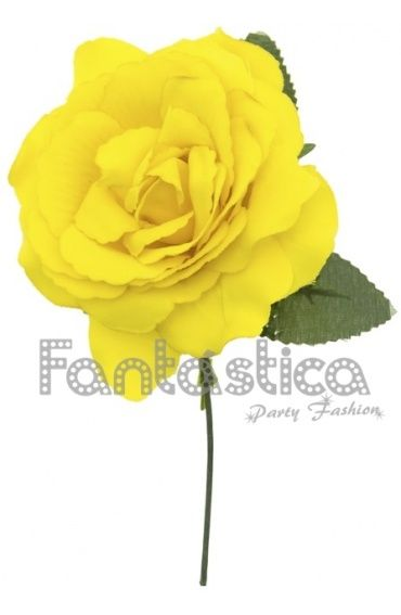 Flor para el Pelo Modelo Lara Color Amarillo- Disponible en varios colores.