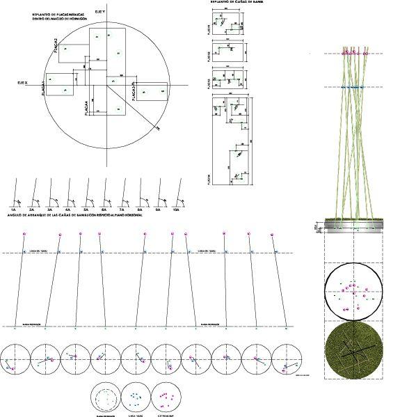 – El bambú como elemento decorativo en el portal de Avenida del Brasil