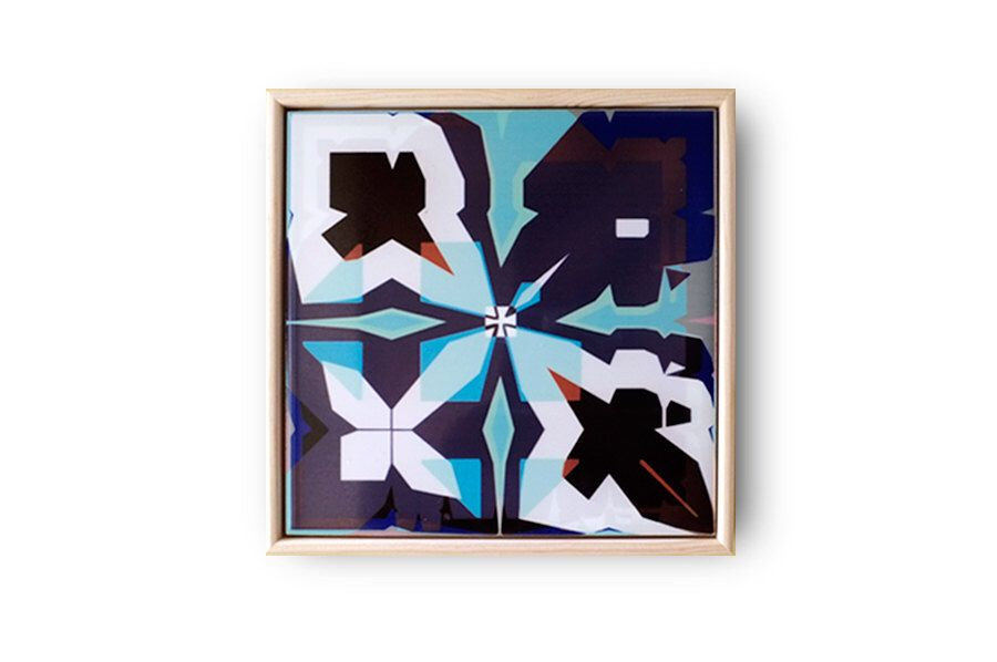 Geometric Tile Abstract Wall Art Asymmetric Pattern Ceramic Etsy Ceramic Wall Art Tiles Framed Abstract Art Tile Wall Art